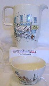 Midwinter 'Riviera' Milk/Water Jug & Sugar Bowl - 1950s - SOLD